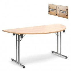 Deluxe Semi Circular Folding Table