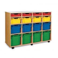 16 Tray Mobile Storage Unit