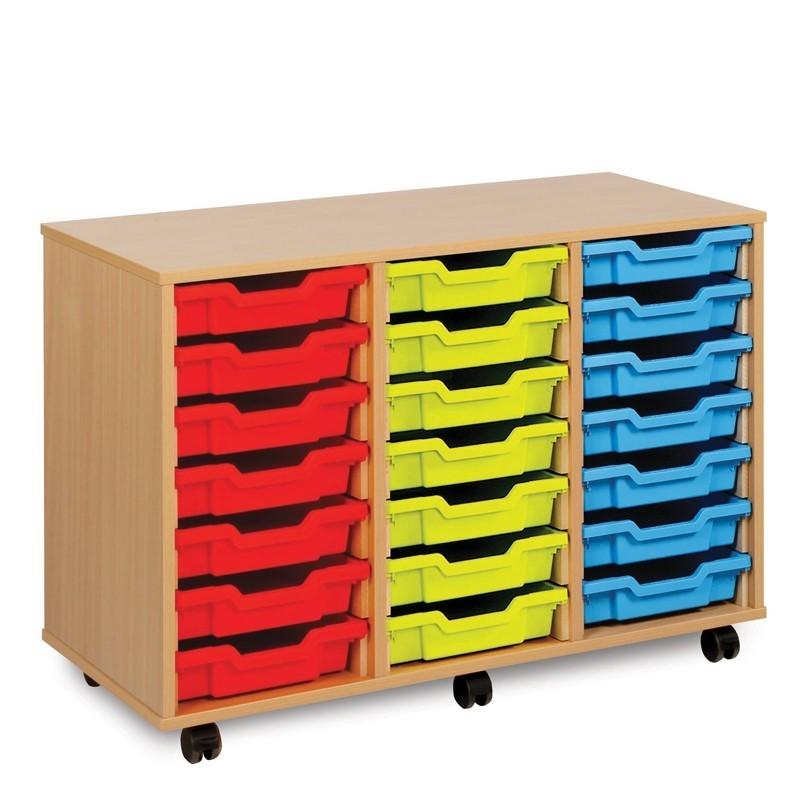 21 shallow tray storage unit. Black Bedroom Furniture Sets. Home Design Ideas