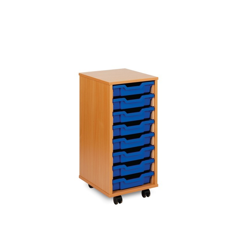 8 shallow tray storage unit. Black Bedroom Furniture Sets. Home Design Ideas