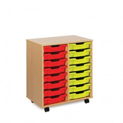 16 Shallow Tray Storage Unit