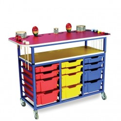 Music Trolley with 12 Trays