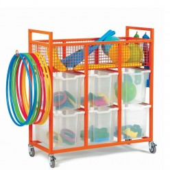 Sports Trolley with 6 Trays
