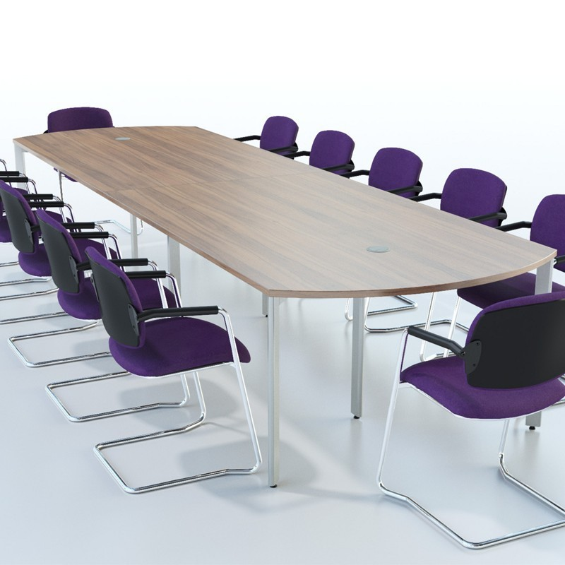 Extendular Bow-End Conference Table