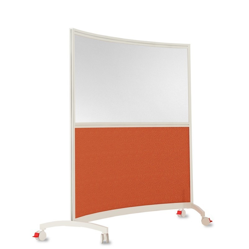 Shroud Mobile Half Glazed Curved Screen