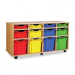 12 Tray Mobile Storage Unit