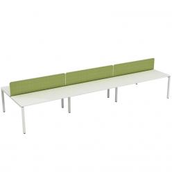 K1 Six Bench Desks