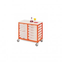 Mobile Metal Tray Storage -...
