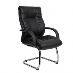 Ipswich Leather Visitors Chair