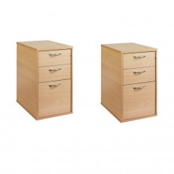Falcon 3 Drawer Desk High Pedestal