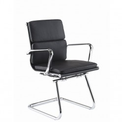 Pollidan Leather Cantilever Chair