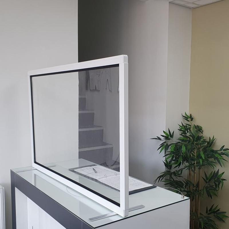 Sabre Freestanding Desk Barrier