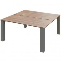 Venture Double Bench Desk - Square Frame