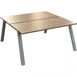 Venture Double Bench Desk - A Frame