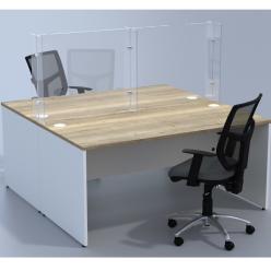 Venture H Double Desk Barrier