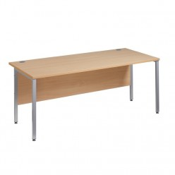 Marta H-Frame Straight Desk